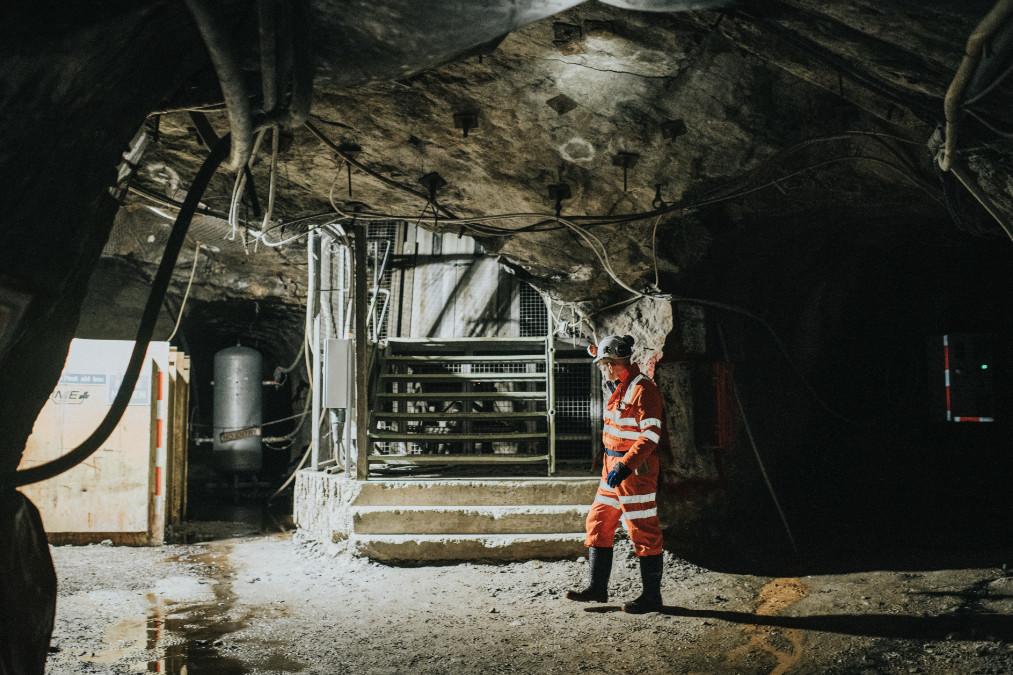 An underground mine